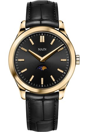 Maen Manhattan 40 Moon Jet Black Gold Polished